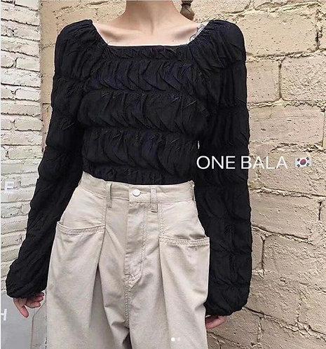 Dahlia Crop Top in Black