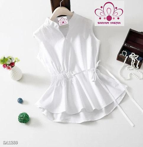 Cotton side knot designer top