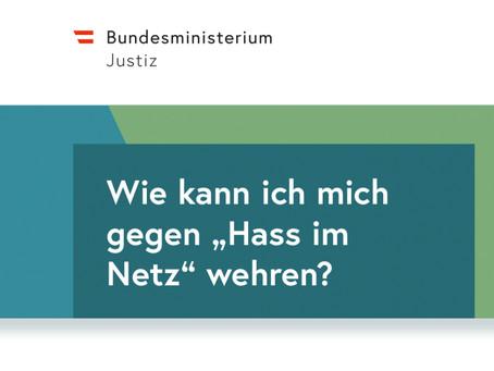Hass im Netz – Info-Folder des Justizministeriums