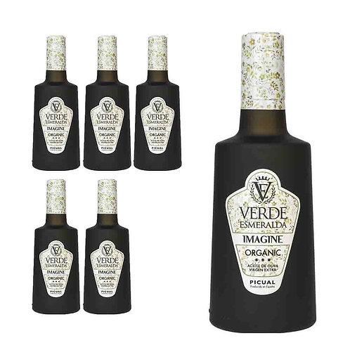 Verde Esmeralda - Imagine - Organic Picual - 6 Botellas 500 ml