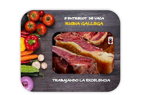 Entrecot de Vaca Rubia Gallega 5 unid. (350gr - 400gr)