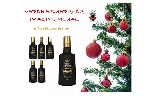 Verde Esmeralda - Imagine - Picual - 6 Botellas 500 ml