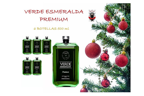 Verde Esmeralda - Premium - Picual - 6 Botellas 500 ml