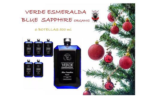 Verde Esmeralda - Blue Sapphire - Orgánico - Picual - 6 Botellas 500 ml