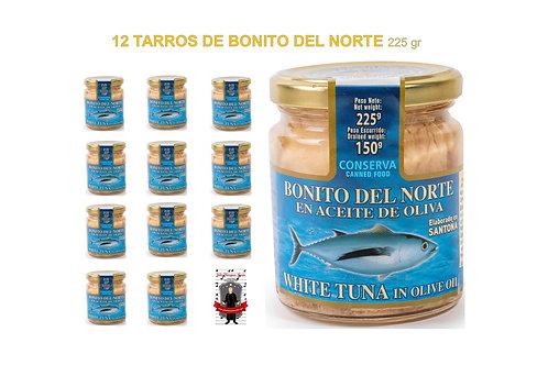BONITO DEL NORTE 225 gr 12 uds