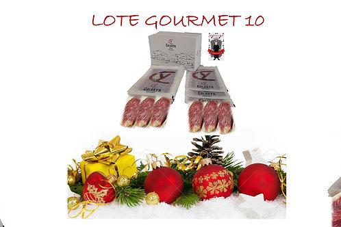 LOTE GOURMET 10 - 20 sobres (80 gr) lomo cebo de campo 100% ibérico