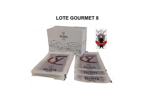 LOTE GOURMET 8 - 15 sobres (80gr) Jamón cebo de campo 100% ibérico