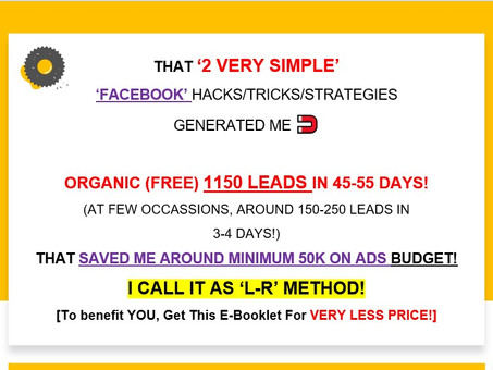 That 2 Very Simple Facebook Hacks Gets You Tons of FREE Leads!!