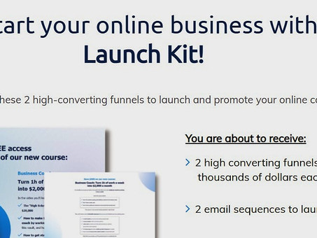 [Free Access] Would You Be Interested To Jumpstart Your Online Business With This 'LAUNCH KIT'?