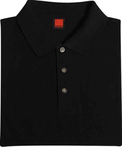 T-Shirt Honey Comb Collar (Black)