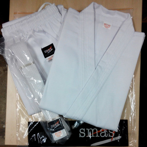 Karate White Ribbed Uniform