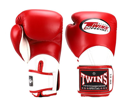 TWINS SPECIAL MUAY THAI GLOVES - BGVL11(RED/WHITE)