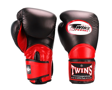 TWINS SPECIAL MUAY THAI GLOVES BGVL11(BLACK/RED)