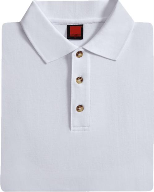 T-Shirt Honey Comb Collar (White)
