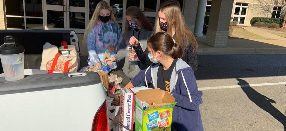 Treat Bags for Police Service Project