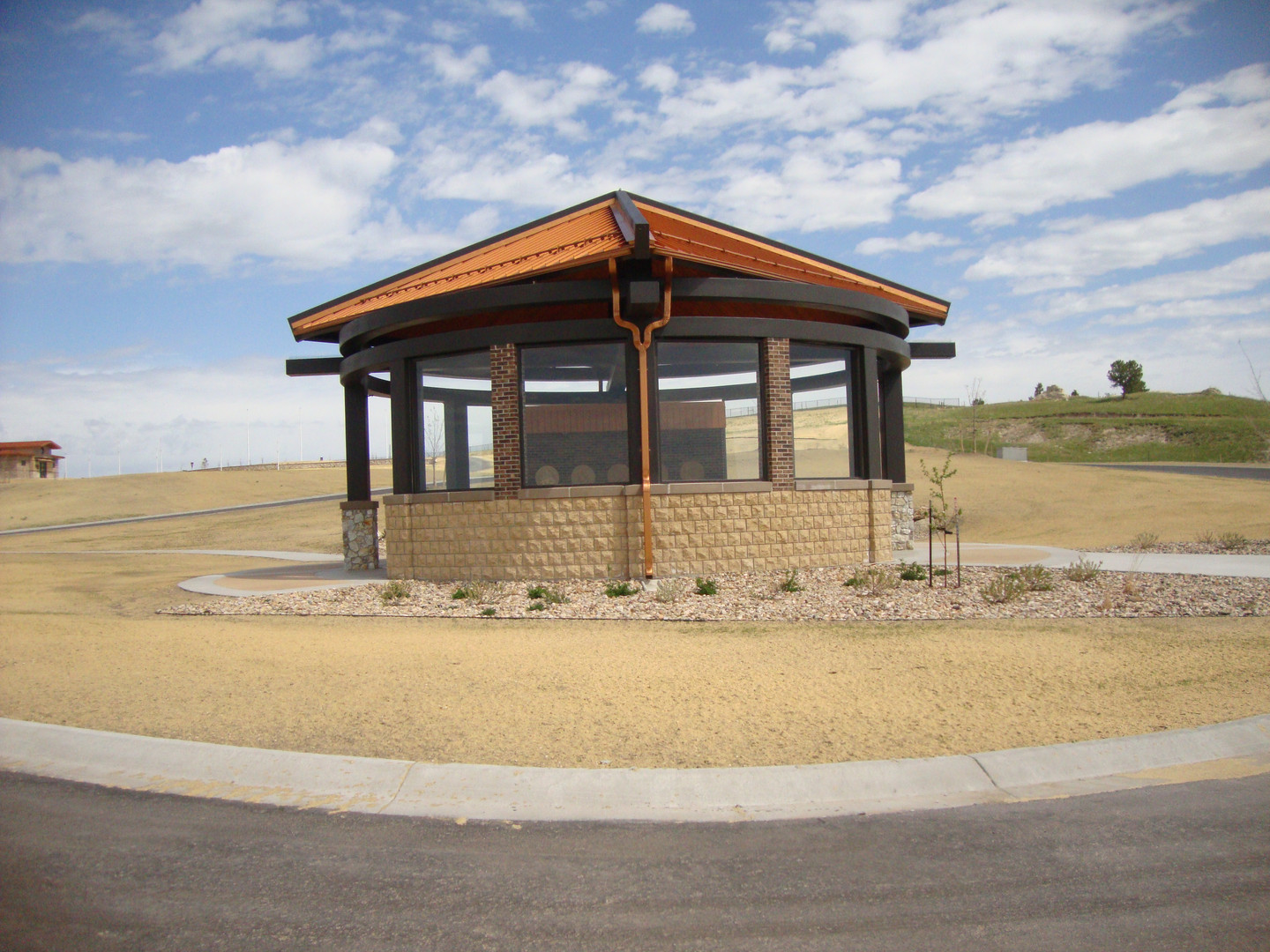 Oglala Sioux Tribe Veterans Cemetery Committal Shelter in Kyle, SD