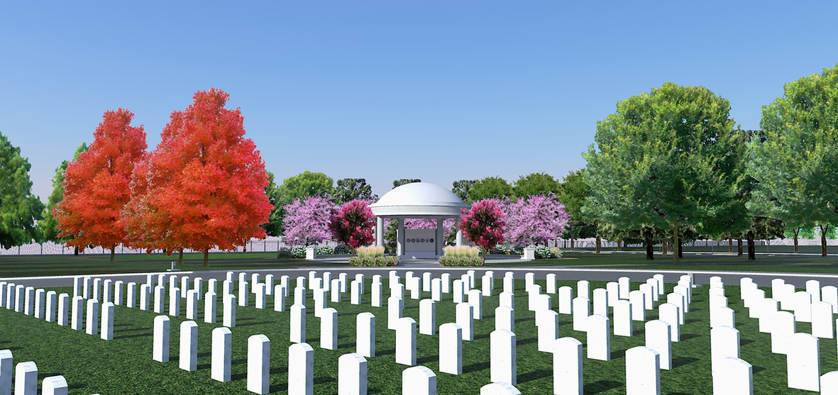 Committal Shelter at New State Veterans Cemetery in Ardmore, OK