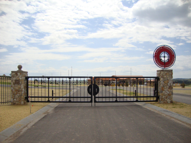 Oglala Sioux Tribe Veterans Cemetery Entrance Gate in Kyle, SD