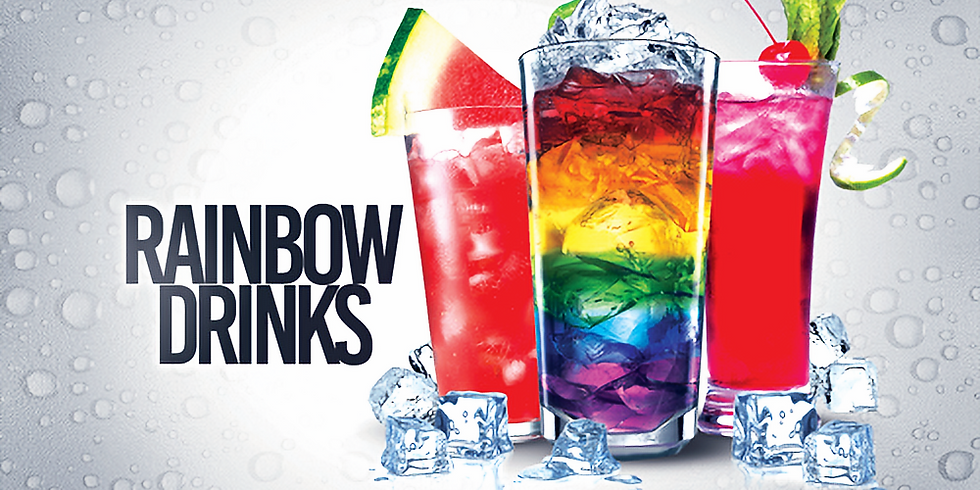 January Rainbow Drinks