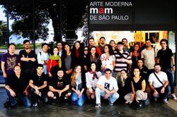 Grupo CadaVer em frente ao MAM - 201