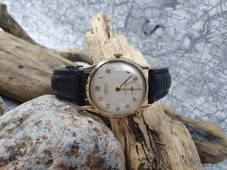 Mappin Campaign 9ct gold wristwatch