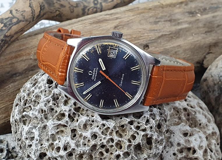 Blue Dial vintage Omega Geneva Automatic wristwatch, ref 166.041