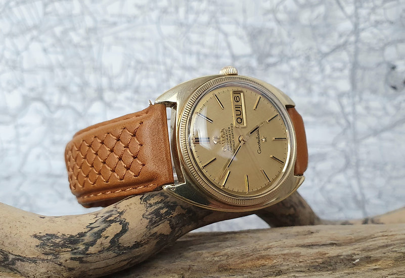 A fine and rare coin edge bezel vintage Omega Constellation Automatic Chronomete