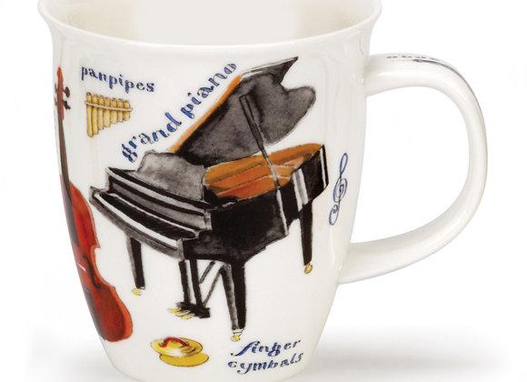Dunoon Mug Nevis Shape ' Music ' 0.48L