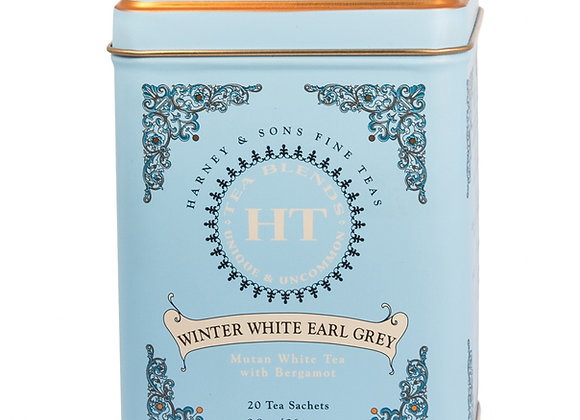 Harney & Sons Winter White Earl Grey Tea 20 Bags in Tin