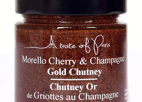 Gold Chutney Morello Cherry & Champagne 100g