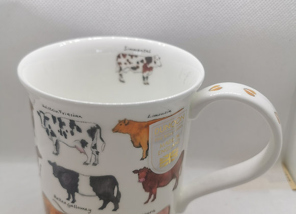 Dunoon Mug Bute Shape ' Animal Breads Cow ' 0.3L