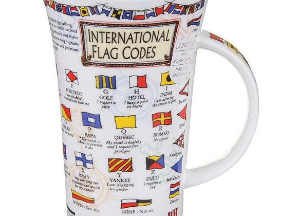 Dunoon Mug Glencoe ' International Flag Codes '