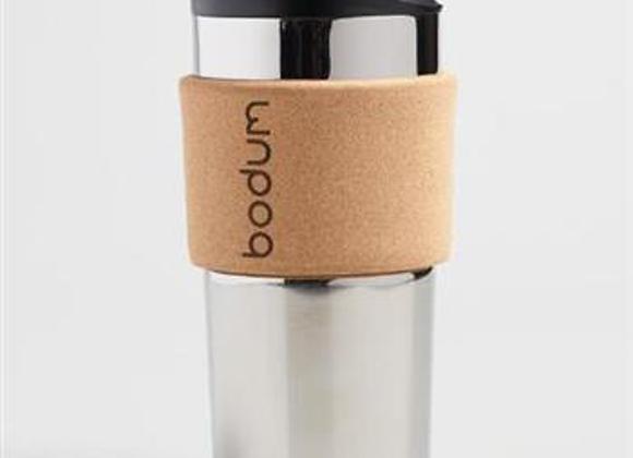 Bodum Stainless Steel Cork Travel Mug, 350ml