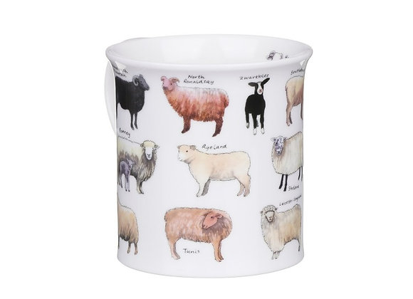 Dunoon Mug Bute Shape ' Animal Breads Sheep ' 0.3L