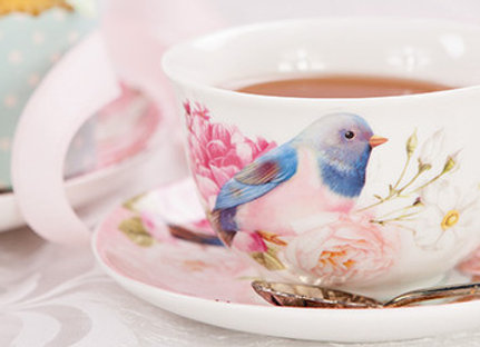 Ashdene Blue Bird Cup & Saucer 12.5x 10x 6.5cm
