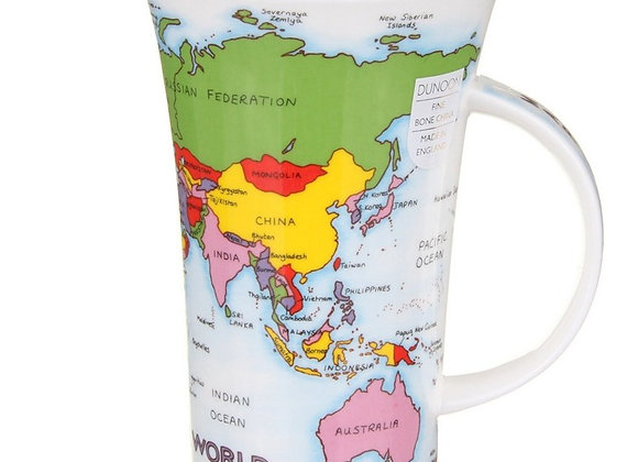 Dunoon Mug Glencoe 'Map of the World'