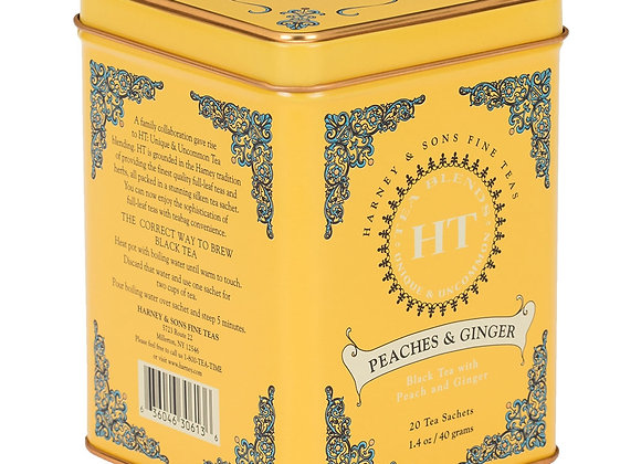Harney & Sons Peaches Ginger Black Tea 20 Bags