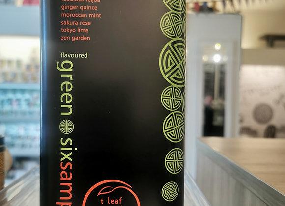 Tea Leaf Gift Box Six Samplers of Flavoured Green Tea Loose