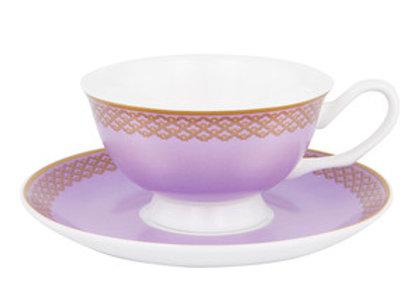 Ashdene Butterfly Tea Party Cup & Saucer Lanvender