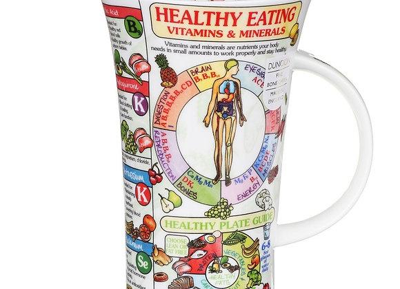 Dunoon Mug Glencoe ' Healthy Eating ' 0.5L