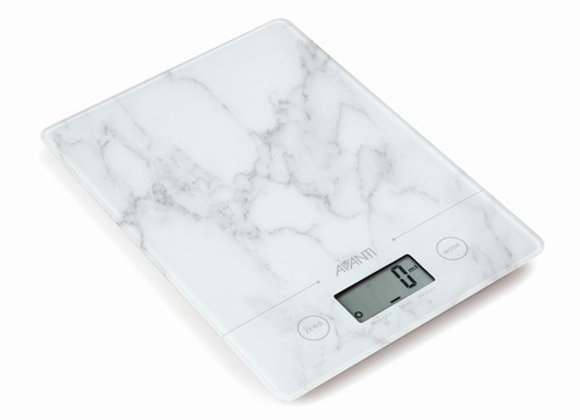 Avanti Compact Kitchen Scale White Marble