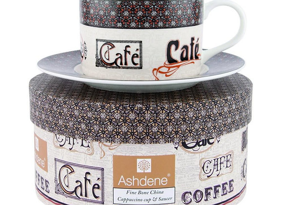 Ashdene Cappuccino Cup & Saucer set Cafe Collection