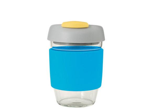 Avanti Glass GoCup 355ml Blue/Grey/Yellow