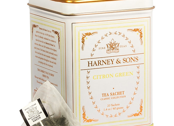 Harney & Sons Citron Green Tea 20 bags in Tin