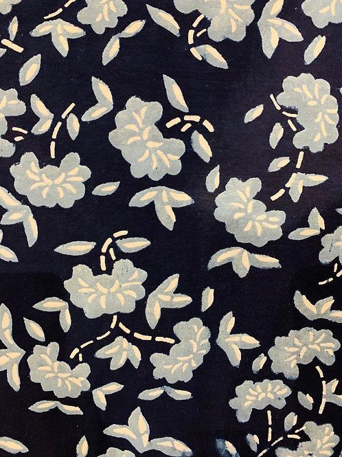 Blue Camellia- Beanpaste Fabric