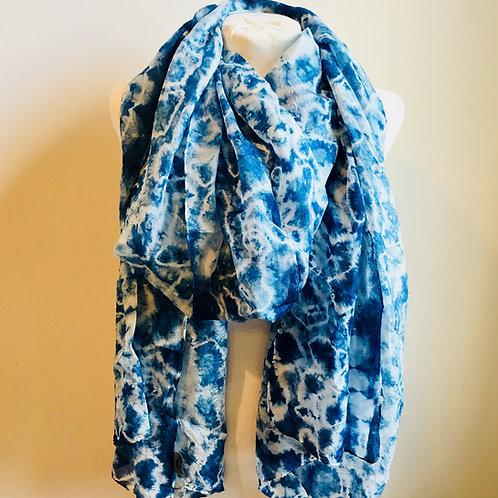 Hand-dyed Shibori Silk Scarves