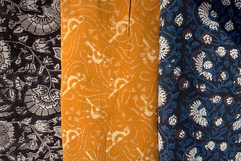Indian Mud print fabric - by metre