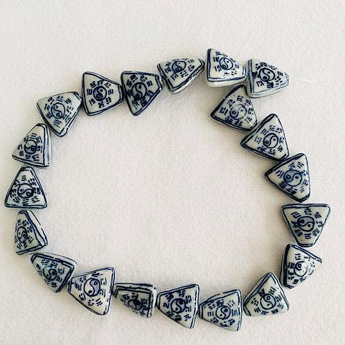 Chinese ceramic beads - Triangle