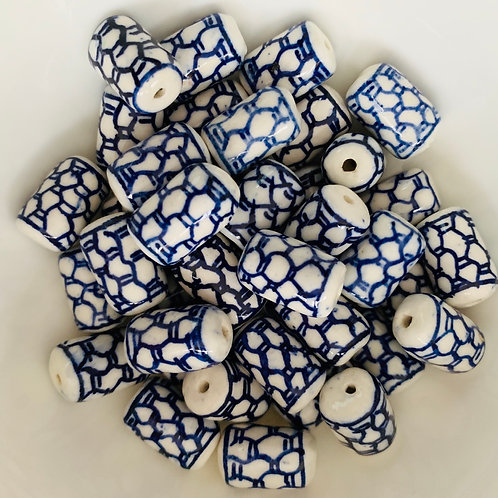 Chinese ceramic beads -Barrel