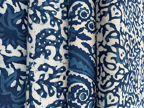 Block Printed Cotton - Per fat quarter